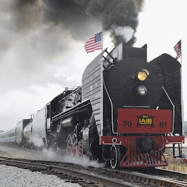 Steam Locomotive Built In China by Stephen Beatty - Transportation Trains (  )