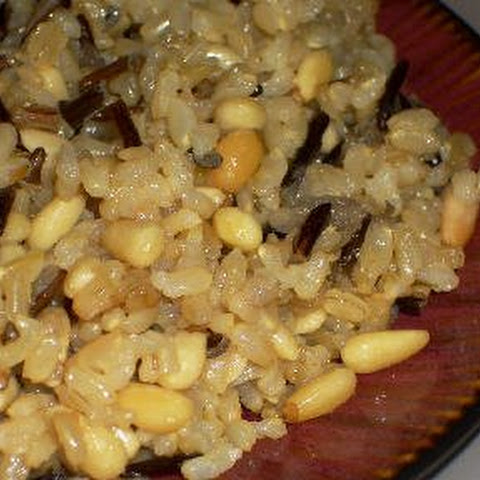 Brown and Wild Rice with Pine Nuts and Thyme