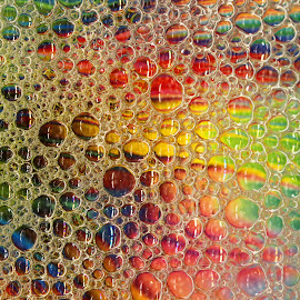 Bubble Art by Janet Herman - Abstract Patterns ( water, macro, patterns, colors, bubbles, soap )