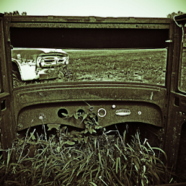 Old rusty cars by Jeffrey T Johnson - Transportation Automobiles ( old, cars, rusty, old cars, rustic )