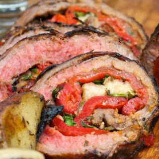 Grilled Italian Stuffed Flank Steak