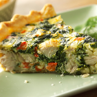 Turkey, Spinach and Swiss Quiche