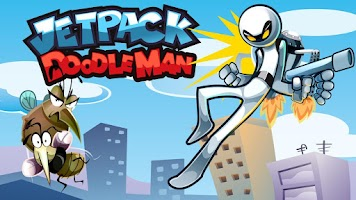 Screenshot of Jetpack Doodle Man