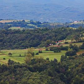 Piemonte, Italy by Steve Cornforth - Landscapes Prairies, Meadows & Fields ( piemonte, landscape, italy, alps, mombarcaro )