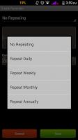Screenshot of Reminder