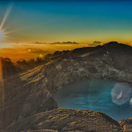 Kelimutu Sunrise by Elmo Ensio - Landscapes Mountains & Hills ( crater, volcano, indonesia, lake, sunrise,  )