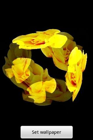 3Dの黄色のバラ