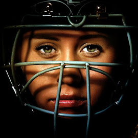 Behind the plate by Mike Ritchie - People Portraits of Women