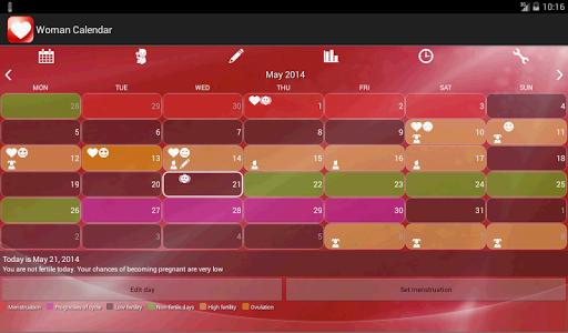 Woman Calendar - screenshot