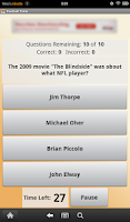 Screenshot of Football Trivia
