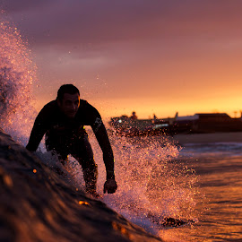 Into the Sun by Dave Nilsen - Sports & Fitness Surfing