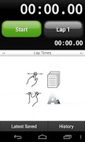 Screenshot of Talking Stopwatch Pro