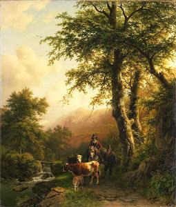 RIJKS: Barend Cornelis Koekkoek: painting 1848