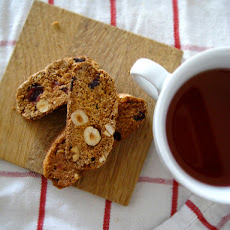 Orange Cranberry Hazelnut Cantuccini