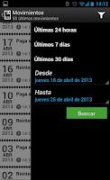 Screenshot of EVO Banco móvil
