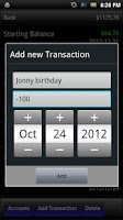 Screenshot of Virtual Checkbook
