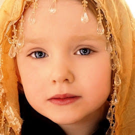 Sparkly Scarf by Cheryl Korotky - Babies & Children Child Portraits