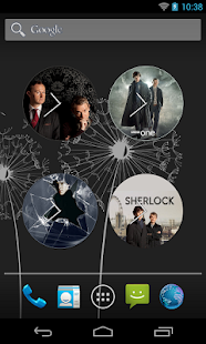 Sherlock clock Widget - screenshot