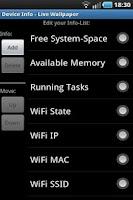 Screenshot of Device Info - Live Wallpaper