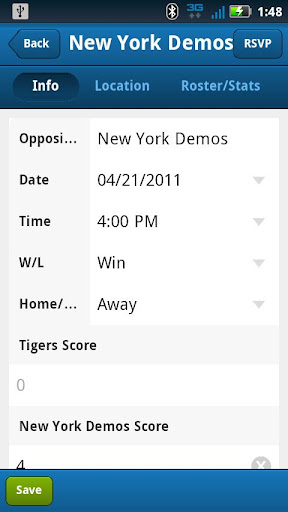 TomorrowsPro Sports Stats App