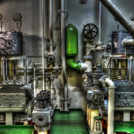 Pipes and valves by Sergios Georgakopoulos - Buildings & Architecture Other Interior ( hdr, valves, hold, pipes, iron )