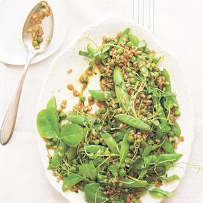 Three Peas with Barley, Chili and Green Garlic
