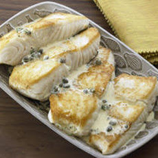 Pan-Roasted Halibut with Caper Vinaigrette Recipe