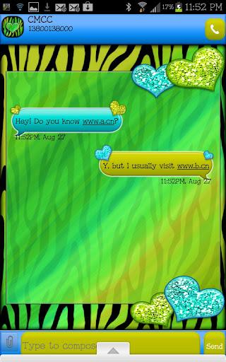 免費個人化App|GO SMS - Hearts Sea Zebra|阿達玩APP