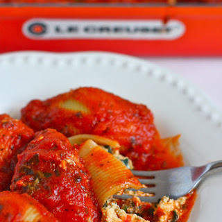 Vegan Stuffed Shells Tofu Spinach Recipes