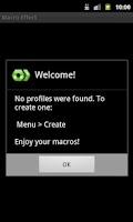 Screenshot of Macro Effect