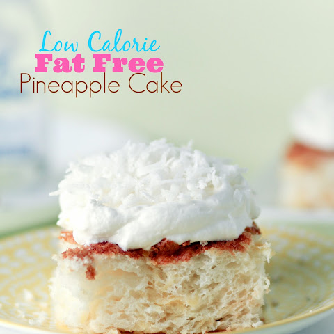 Fat Free, Low Calorie Pineapple Cake!!