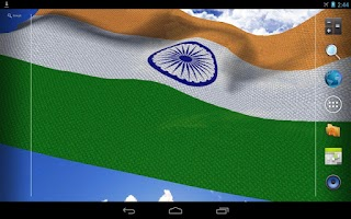 Screenshot of 3D India Flag Live Wallpaper