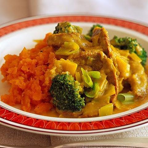 Beef Rendang with Broccoli