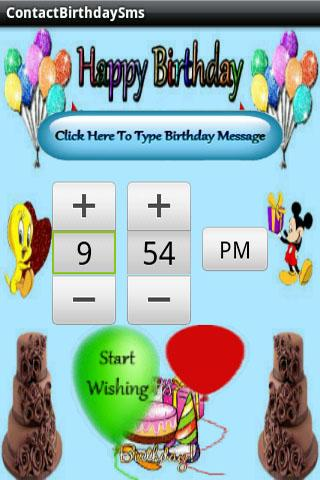 Contact Birthday Sms