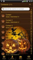 Screenshot of Halloween 2 GO Contact theme