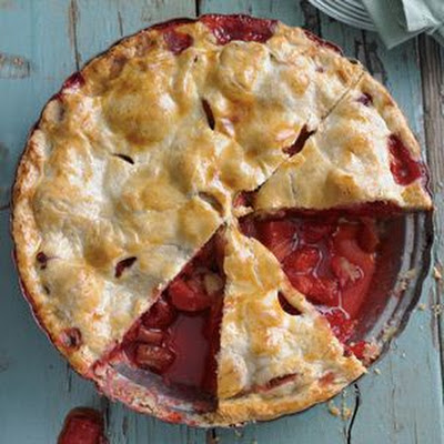 Tangy Rhubarb-Strawberry Pie