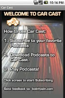 Screenshot of Car Cast Podcast Player