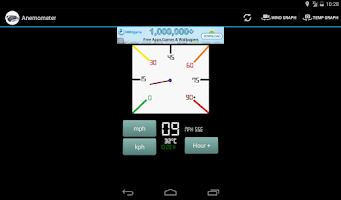 Screenshot of Anemometer