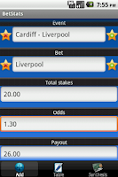 Screenshot of BetStats - Sports Bet Tracker