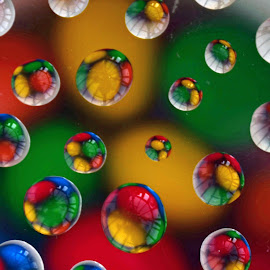 by Doreen Hart - Novices Only Macro ( #bubbles, #sweets, #reflections, #colours, #water )