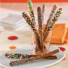 Easy Pb 'n Chocolate Pretzels