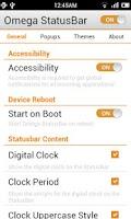 Screenshot of Omega StatusBar