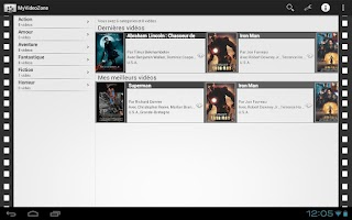 Screenshot of MyVideoZone