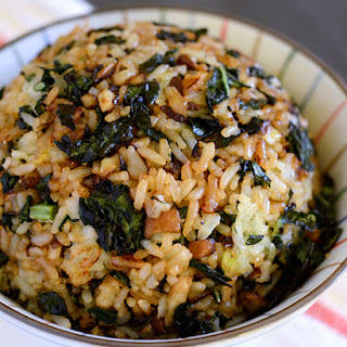 Crispy Kale and Mushroom Fried Rice