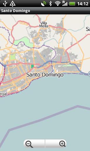 Santo Domingo Street Map