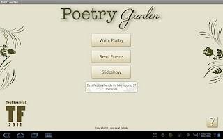 Screenshot of Poetry Garden