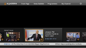 Screenshot of AJE Google TV