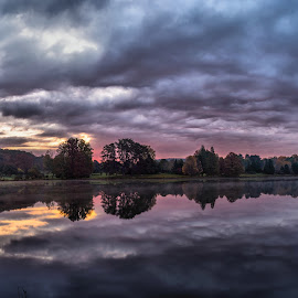 Lake Nevin Sunrise by Nathan Pentecost - Landscapes Weather ( the mood factory, mood, lighting, sassy, pink, colored, colorful, scenic, artificial, lights, scents, senses, hot pink, confident, fun, mood factory  )