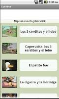 Screenshot of Cuentos