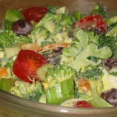 Egg Persillade Dressing and a Broccoli Salad